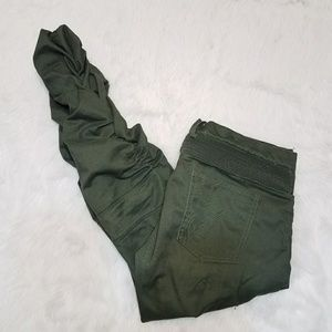 American Stitch Olive Twill Cargo Bungee Joggers